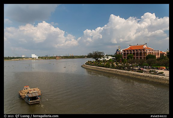 Dragon House and Ben Nghe Channel. Ho Chi Minh City, Vietnam (color)