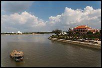 Dragon House and Ben Nghe Channel. Ho Chi Minh City, Vietnam ( color)