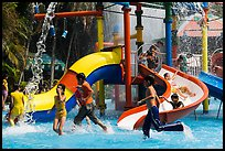 Children playing, Dam Sen Water Park, district 11. Ho Chi Minh City, Vietnam (color)
