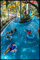 Inner tubing, Dam Sen Water Park, district 11. Ho Chi Minh City, Vietnam (color)