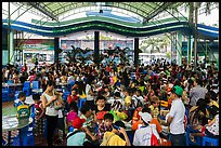 Groups of schoolchildren, Dam Sen Water Park, district 11. Ho Chi Minh City, Vietnam (color)