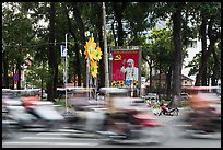 Traffic blur. Ho Chi Minh City, Vietnam (color)