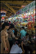 Stalls inside Ben Thanh market. Ho Chi Minh City, Vietnam ( color)