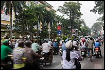 Busy street. Ho Chi Minh City, Vietnam (color)