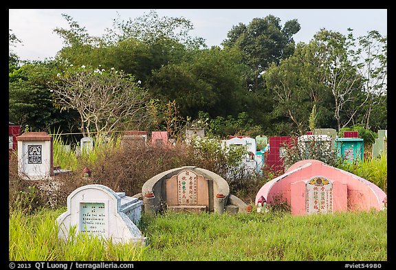 Tombs. Tra Vinh, Vietnam (color)