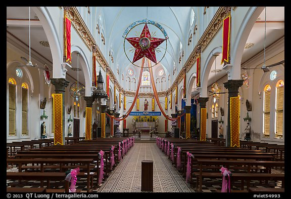 Church interior. Tra Vinh, Vietnam (color)