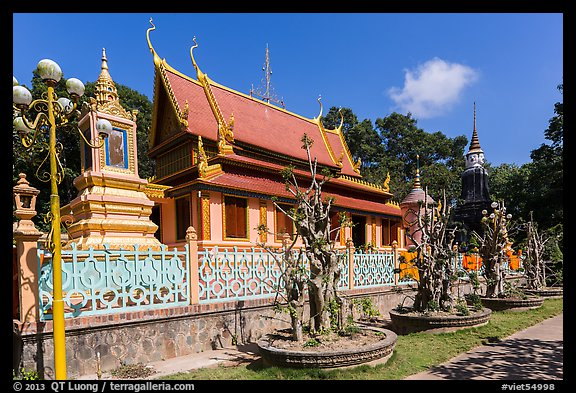 Hang Pagoda in Khmer style. Tra Vinh, Vietnam (color)
