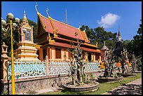 Hang Pagoda in Khmer style. Tra Vinh, Vietnam ( color)