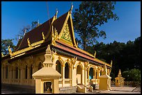 Ang Pagoda in Khmer style. Tra Vinh, Vietnam ( color)