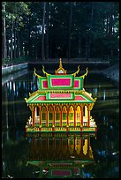 Spirit house on small pond. Tra Vinh, Vietnam ( color)