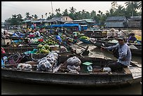 Phung Diem floating market. Can Tho, Vietnam ( color)