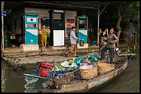 Riverside gas station. Can Tho, Vietnam ( color)