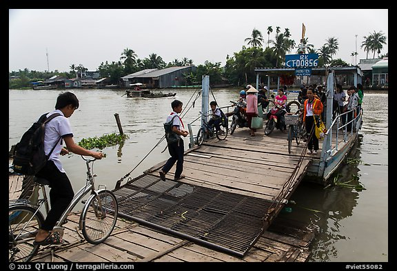 River ferry. Can Tho, Vietnam (color)
