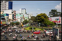 Traffic from above. Ho Chi Minh City, Vietnam ( color)