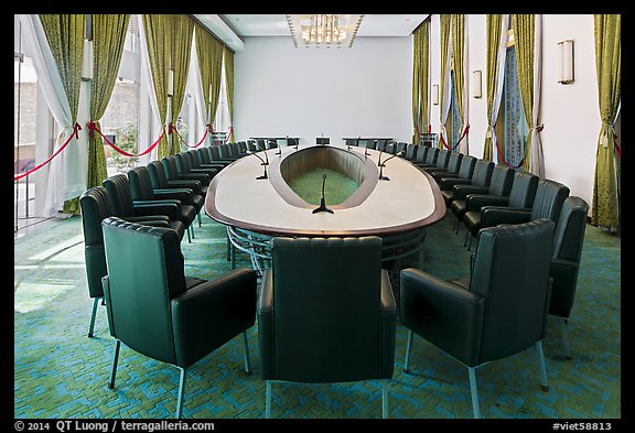 Cabinet meeting room, Independence Palace. Ho Chi Minh City, Vietnam (color)