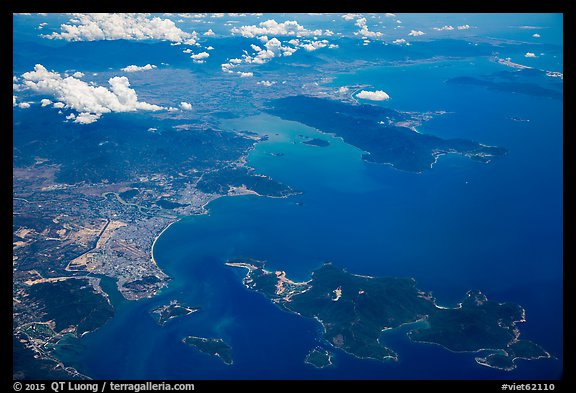 Aerial view of Nha Trang Bay. Vietnam (color)