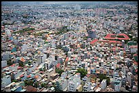 Aerial view of multi-story buidings. Ho Chi Minh City, Vietnam ( color)