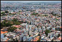 Aerial view of suburbs. Ho Chi Minh City, Vietnam ( color)