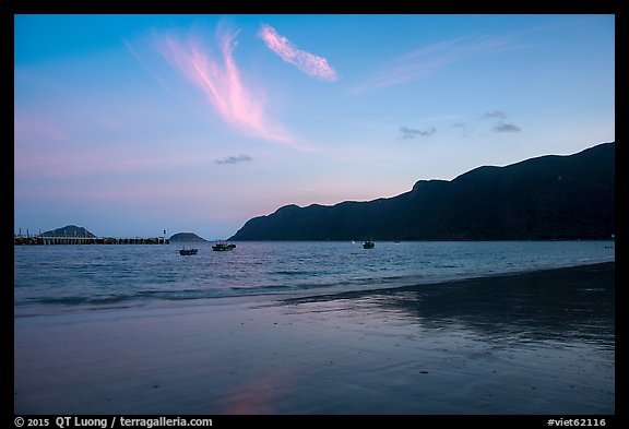 An Hai Beach and Con Son Bay at sunset. Con Dao Islands, Vietnam (color)