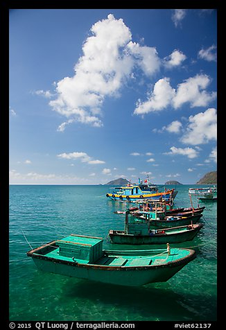 Fishing boats, Con Son. Con Dao Islands, Vietnam (color)