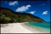 White sand on Cat Lon Beach, Bay Canh Island, Con Dao National Park. Con Dao Islands, Vietnam ( color)