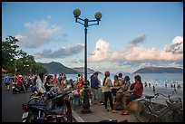 Waterfront becomes animated in late afternoon, Con Son. Con Dao Islands, Vietnam ( color)