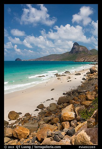 Nhat Beach and Ba Island. Con Dao Islands, Vietnam (color)