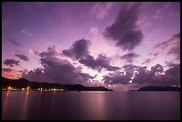 Con Son lights and tropical clouds at dawn. Con Dao Islands, Vietnam ( color)