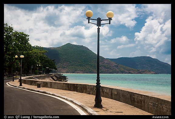 Seafront promenade, Con Son. Con Dao Islands, Vietnam (color)