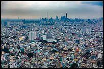 Aerial view of city skyline. Ho Chi Minh City, Vietnam ( color)
