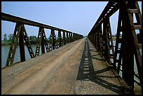Bridge over the Ben Hai river, which used to mark the separation between South Vietnam and North Vietnam. Vietnam (color)