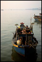 Fishing boat, in the Nhat Le River, Dong Hoi. Vietnam (color)