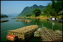 Floating fish cages, Son Trach. Vietnam (color)