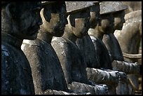 Row of statues in Khai Dinh Mausoleum. Hue, Vietnam (color)