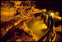 Ngoc Tuyen River flowing through Nhi Thanh Cave. Lang Son, Northest Vietnam (color)
