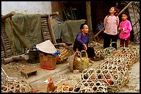 Live poultry for sale, That Khe market. Northest Vietnam (color)