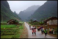 Children returning from school, Ma Phuoc Pass area. Northeast Vietnam