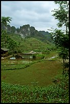 Cultures, homes, and peaks, Ma Phuoc Pass area. Northeast Vietnam