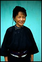 Woman of the Nung hill tribe in traditional dress. Northeast Vietnam
