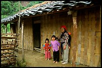 Family outside their home. Northeast Vietnam (color)