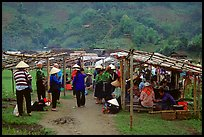 Market set in the fields near Ba Be Lake. Northeast Vietnam ( color)