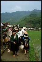Outdoor Market set in the fields near Ba Be Lake. Northeast Vietnam ( color)