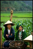 Hilltribeswomen with traditional necklace. Northeast Vietnam ( color)