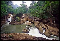 Dau Dang cascades of the Nang River. Northeast Vietnam (color)