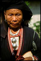 Elderly tribewoman, near Mai Chau. Vietnam ( color)