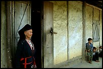 Elderly  tribewoman outside her house, near Mai Chau. Northwest Vietnam