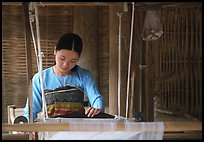 Thai woman weaving, Ban Lac. Northwest Vietnam (color)