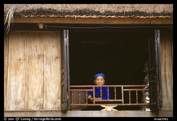 Old woman at her window, Ban Lac. Northwest Vietnam