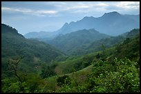 Lush mountain scenery between Moc Chau and Yeu Chau. Northwest Vietnam ( color)