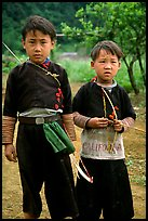 Two Hmong boys, Xa Linh. Northwest Vietnam (color)